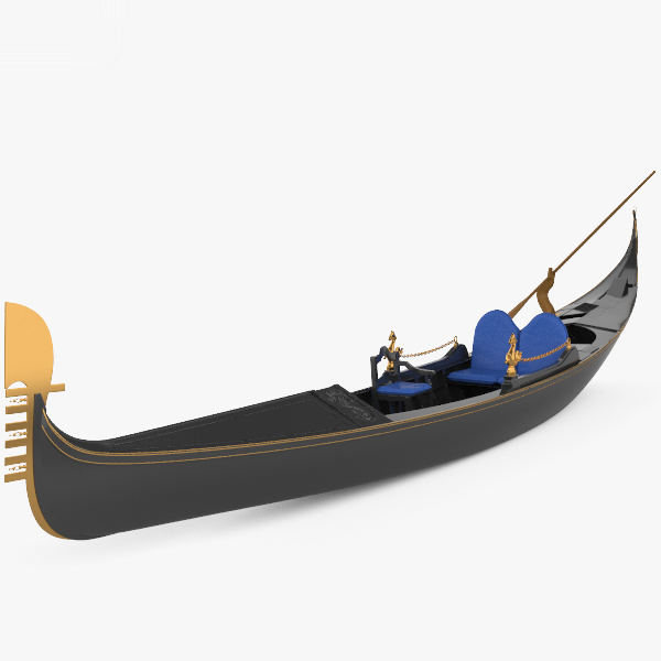 gondola boat vessel 3D model