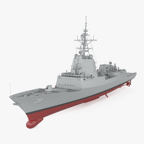 hobart-class destroyer hobart 3D model