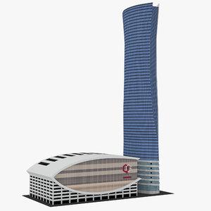 navigation tower qatar model