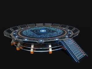 helipad scifi 3D model