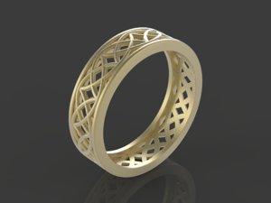 stylish ornament ring 3D model