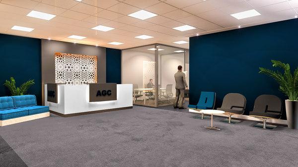 office reception 3D