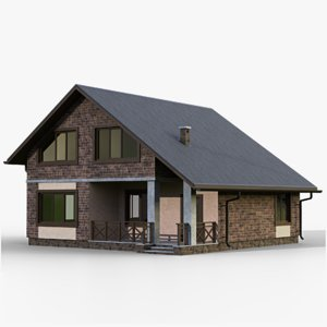 gameready house 5 type 3D model