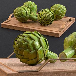 artichoke scolymus food 3D model