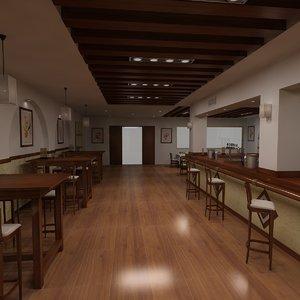 restaurant bar 3D