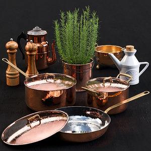 copper pan model