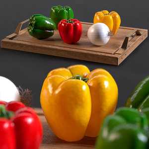 3D bell pepper model
