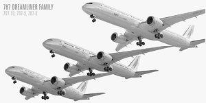 boeing 787 dreamliner family 3D