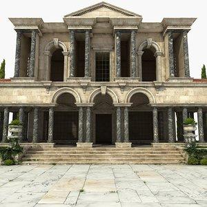 ancient greek building 2 3D model