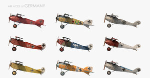 3D model ww1 aces germany