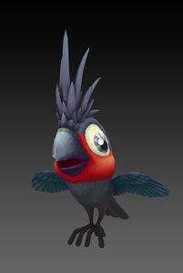 3D black cockatoo