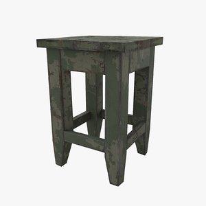 3D stool ussr model