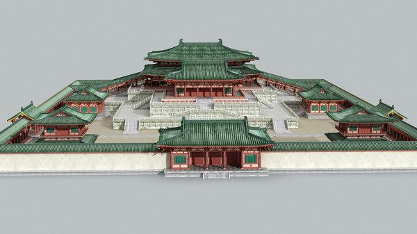 ancient china palace 3D