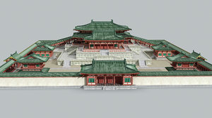 ancient china palace 3D