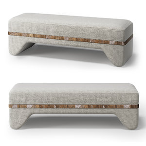 3D theodore alexander notion bench