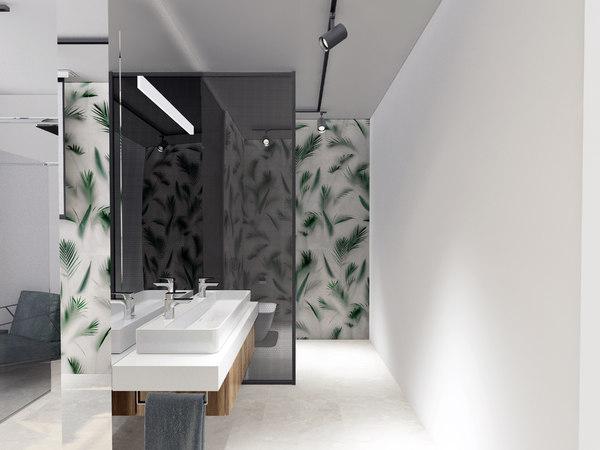 3D bathroom bath interior