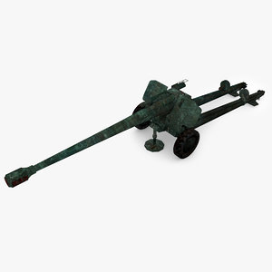 3D model howitzer 2a65 type 02