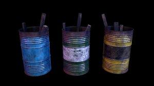barrels open games 3D model