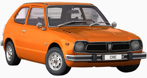 3D honda civic 1975