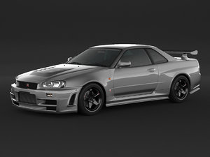 3D car nissan skyline r34