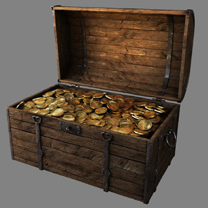 chest gold 3D model
