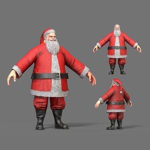 character santa claus 3D
