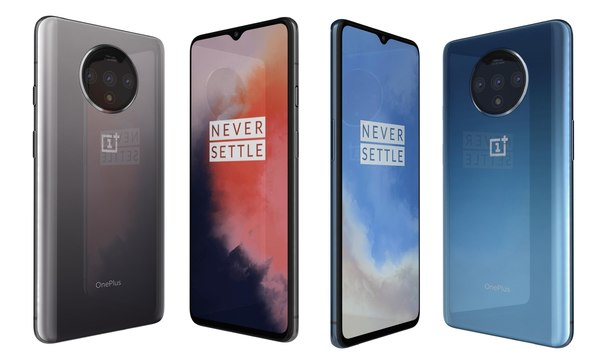 oneplus 7t frosted silver 3D