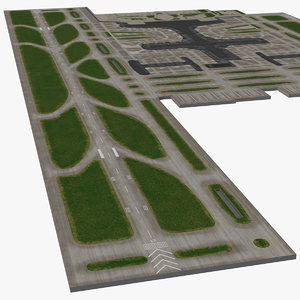 airport area 3D model