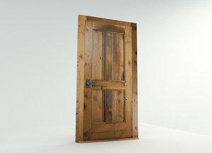 solid wood doors 3D