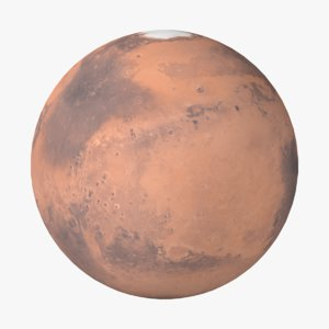 stylized planet mars 3D model
