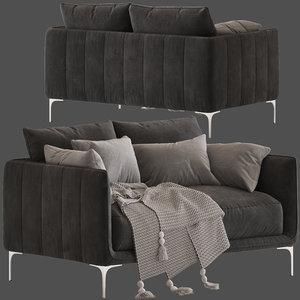 3D model freedom andrea 2-seater sofa