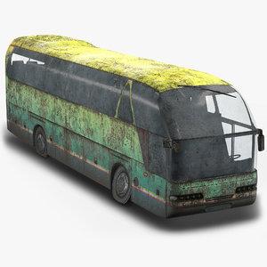 tourist bus abandoned 3D model