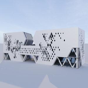 futuristic building 10 model