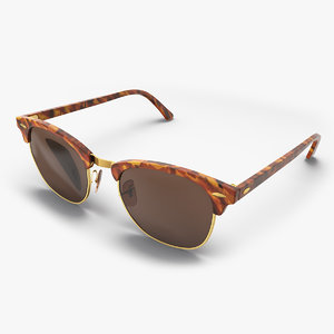 tortoise sunglasses glass sun 3D model