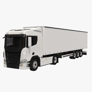 generic tautliner semi trailer 3D