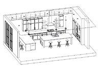 Full Parametric Kitchen Created in Revit vol. 3