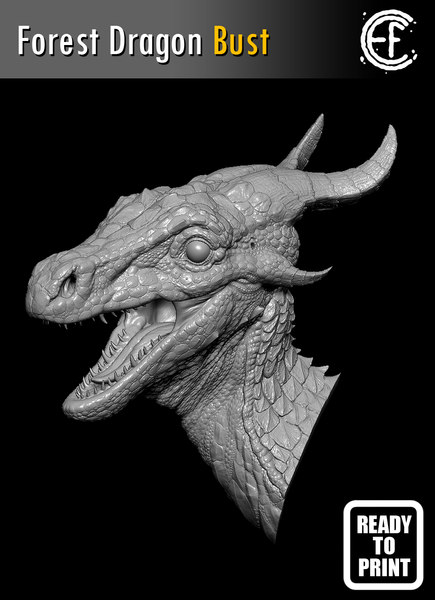 forest dragon head 3D model