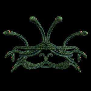 3D snake crown