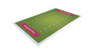 3D football field american ball model
