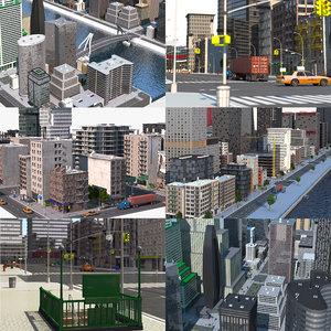 city colection 3D model