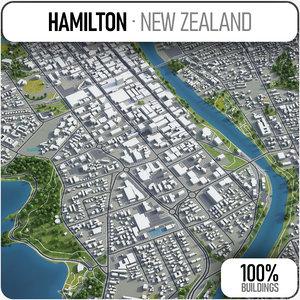 hamilton surrounding - 3D model