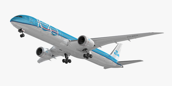 boeing 787-10 klm airlines 3D model