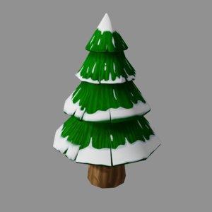 pinetree tree cartoon 3D