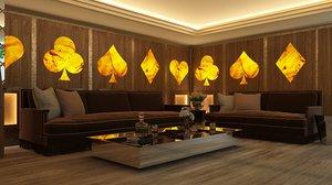 lounge bar 3D model