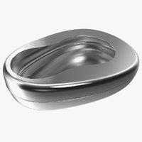 3D metal bed pan model