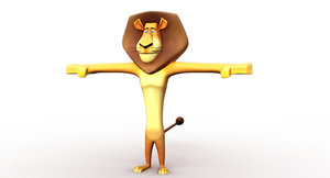 3D madagascar lion cartoon model