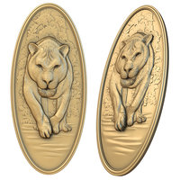 3D lioness cnc