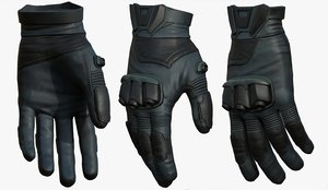 3D gloves military man
