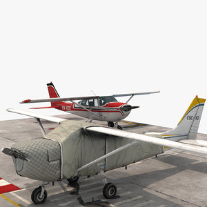 3D small airplane plane