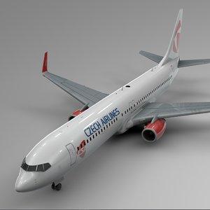 czech arilines boeing 737-800 3D model